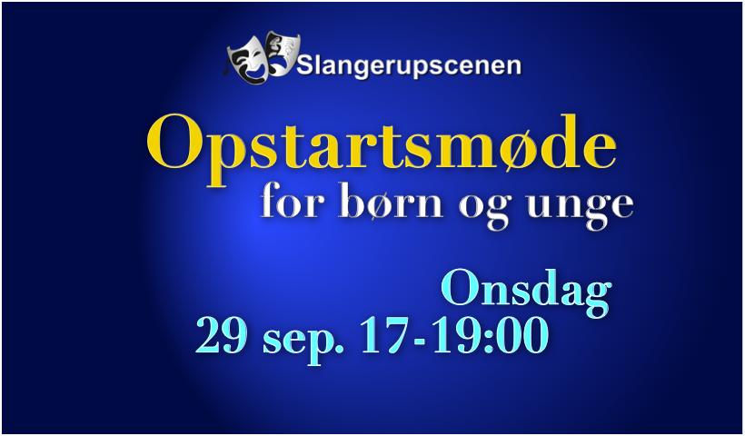 Opstartsmøde for Børn og Unge
